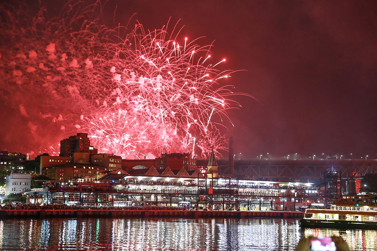 Eastbank Cafe Restaurant – New Years Eve event at Circular Quay with fireworks