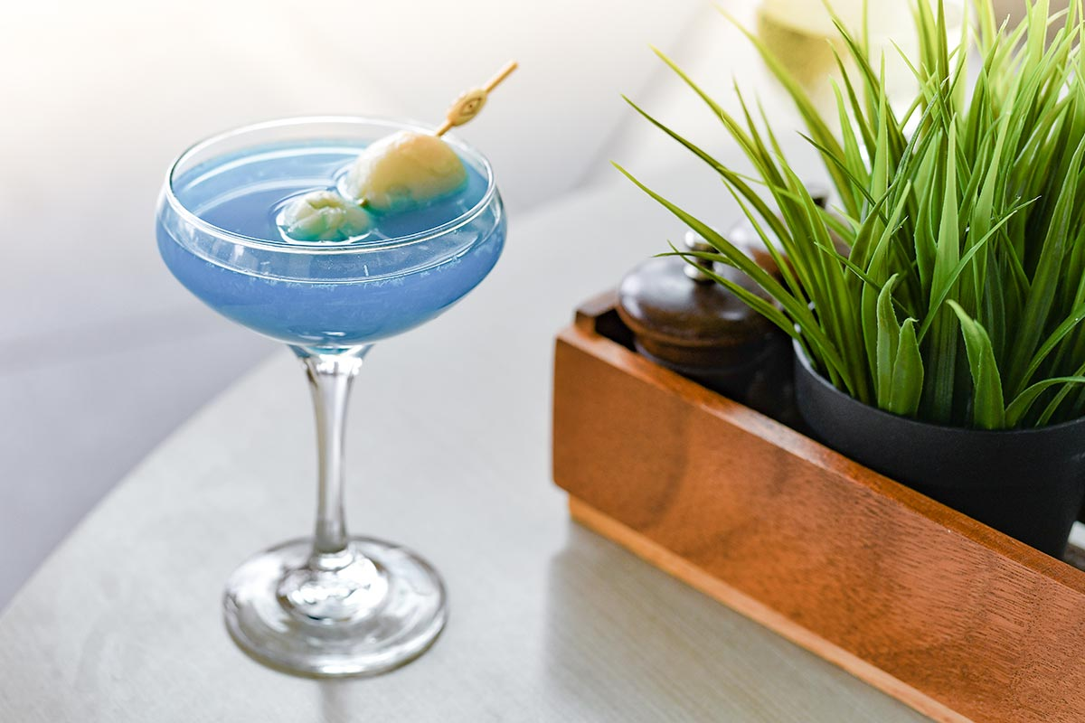 Eastbank Cafe Restaurant – blue cocktail